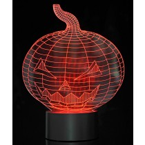 Optical Illusion 3D Pumpkin Jack-O'-Lantern Light