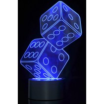 Optical Illusion 3D Dice Lighting