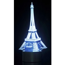 Optical Illusion 3D Eifel Tower Lighting
