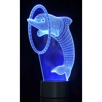 3D Dolphin  Laser Cut Precision LED Lights