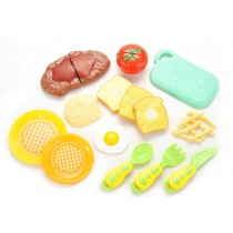 Kitchen Fun Steak and Egg Dinner Cutting Food Playset