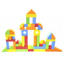 Creative Educational EVA Foam Building Blocks - 131 Pcs