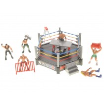 Wrestling Toy Figure Play Set w/ Ring
