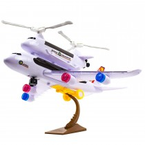 Bump and Go Toy Police Airplane with Rescue Helicopter