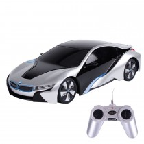 1:24 BMW i8 Concept RC Sports Car Silver