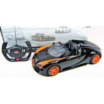 1:14 RC Bugatti Veyron Grand Sport Vitesse Licensed Model Car (Black/Orange)