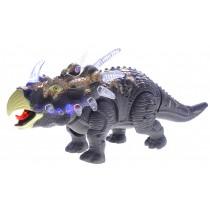 Walking Triceratops Dinosaur Toy Figure (Grey)