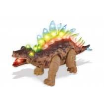 Walking Stegosaurus with Flashing And Sounds Dinosaur Toys For Kids (Brown)