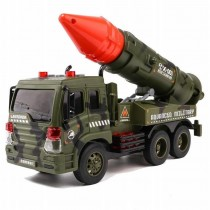 Friction Powered Military Missle Launcher Truck With Lights And Sound