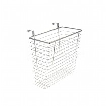 Chrome Waste Basket For Kitchens Or Restrooms