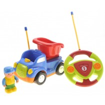 Cartoon RC Construction Car for Kids (Blue)