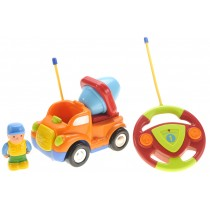 Cartoon RC Construction Car for Kids (Orange)