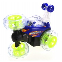 RC Stunt Twister Car w/ Light & Music (Blue)