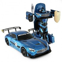 1:14 Mercedes-Benz GT3 2.4ghz RC Transformer Dancing Robot Car Blue