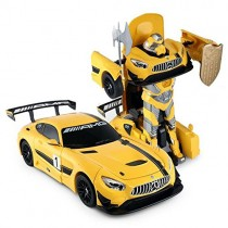 1:14 Mercedes-Benz GT3 2.4ghz RC Transformer Dancing Robot Car Yellow