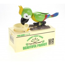 Cute Parrot Piggy Bank  (Green)