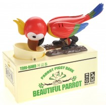 Cute Parrot Piggy Bank (Red)