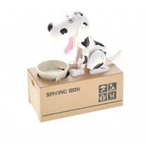 My Dog Piggy Bank - Robotic Coin Munching Money Box (White Black)