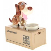 Dog Piggy Bank (White Brown)