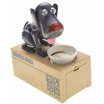 My Dog Piggy Bank - Robotic Coin Munching Money Box (Black)