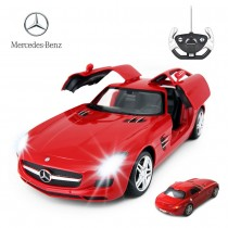 1:14 RC Mercedes Benz SLS With Open Doors And Lights (Red)