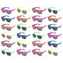 24 pc Neon Kids Sunglasses