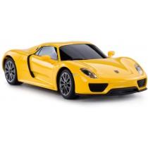 Porsche Remote Control Car, 1:24 Scale Porsche 918 Spyder RC Toy Car for Kids (Yellow)
