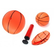 Pack Of 3 Inflatable Magic Shot Mini Hoop Basketballs With Pump