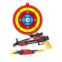 Archery Crossbow Bow and Arrow Toy Set with Target, Toy Crossbow For Indoor & Outdoor Garden Fun Game