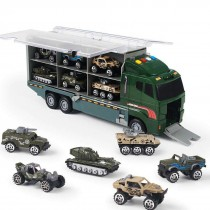 10 in 1 Diecast Military Vehicle Carrier Truck