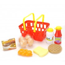 Pretend Play Breakfast & Lunch Play Food Set with Basket