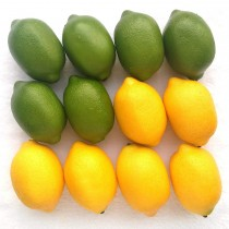 Yellow And Green Lifelike Fake Lemons