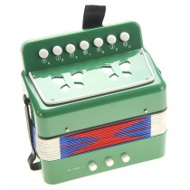 Children's Musical Instrument Accordion Green
