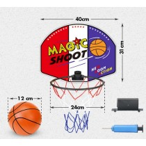 Magic Shot Basketball Hoop Set With Ball And Pump