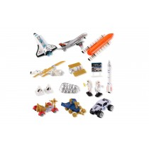 Space Shuttle Playset With Rockets, Satellites, Rovers & Vehicles