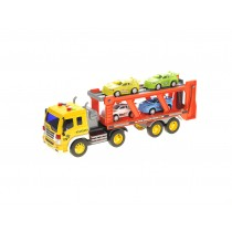 1:16 Friction Powered Car Transporter Truck With Lights and Sounds