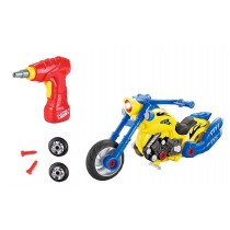 Take-A-Part Toy Motorcycle for Kids W/ Tool Drill, Lights and Sounds