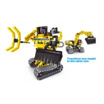 Building Blocks Bricks Construction Truck Kit STEM Toy (Excavator), 301pcs