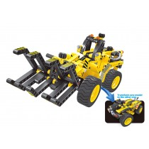 Building Blocks Bricks Construction Kit STEM Toy (Bulldozer), 301pcs
