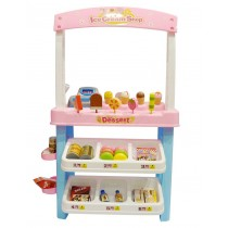 Ice Cream Shop 47 piece luxury grocery Supermarket Pretend Playset Pink