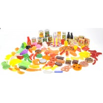 130 Piece Deluxe Assorted Play Food