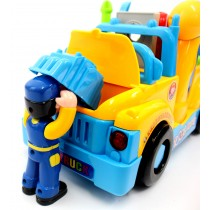Fun Building Multifunctional Take Apart Toy Tool Truck with Electric Drill and Tools for Kids