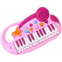 Musical Fun Electronic Piano Keyboard for Kids with Record and Playback (Pink)