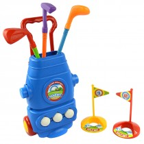 Deluxe Golf Set For Kids Comes With 3 Golf Clubs, 3 Balls, And 2 Practice Holes