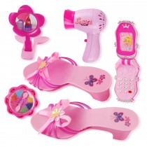 Princess Beauty Play Set With Hair Dryer, Shoes, And Accessories