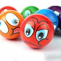 Mini Emoji Soft Foam Stress Balls (24 Balls Per Box)