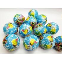 Mini Planet Earth Soft Foam Stress Balls (24 Balls Per Box)