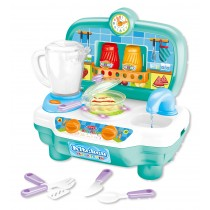 Mini Kitchen Playset with Sound and color changing for real cooking