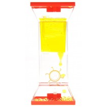 Liquid Motion Bubbler With Two Wheels (Yellow)