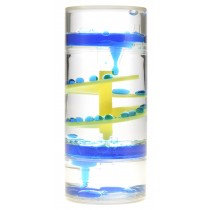 Liquid Motion Bubbler Spiral Cylinder (Blue)